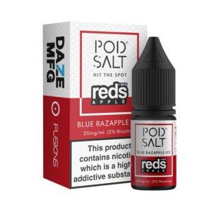 Blue Razapple Ice Nicotine Salt Eliquid af Daze Reds Apple Pod Salt Fusions