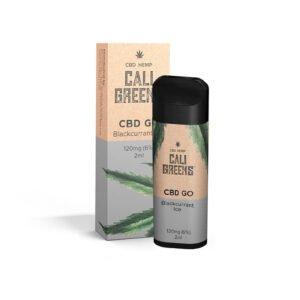 Cali Greens Cbd Go Blackcurrant Ice 120mg Cbd Eliquid 2ml Vaina desechable con caja