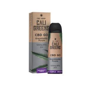 Cali Greens Cbd Go Granddaddy Purple 120mg Cbd Eliquid 2ml Vaina desechable con caja