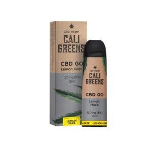 Cali Greens Cbd Go Lemon Haze 120mg Cbd Eliquid 2ml Vienreizējās lietošanas pāksts ar kastīti