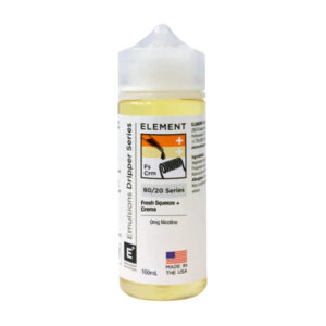 Element Emulsions Fresh Squeeze Crema 100ml Eliquid Shortfill Botella