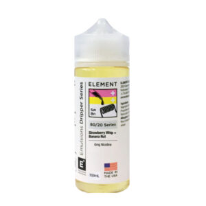Element Emulsiones Strawberry Whip Banana Nut 100ml Eliquid Shortfill Botella