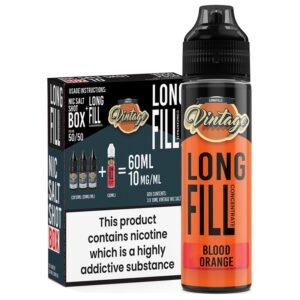 Vintage Blood Orange 30ml Longfill Eliquid Concentrado 3x 10ml Inyecciones de nicotina