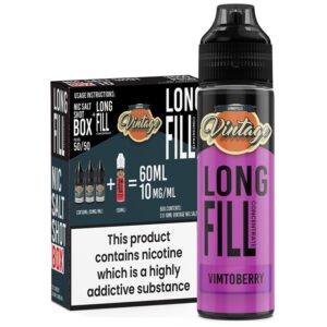 Vintage Vimtoberry 30ml Longfill Eliquid Concentrado 3x 10ml Inyecciones de nicotina