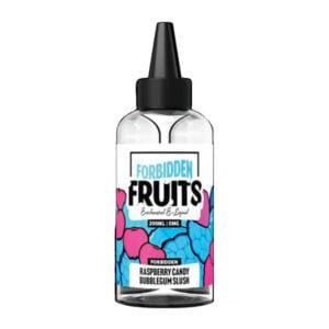Draudžiamų vaisių aviečių saldainiai Bubblegum Slush 200ml likvidas Shortfill Butelis