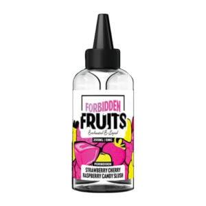 Draudžiami vaisiai braškių vyšnių aviečių saldainiai Slush 200ml likvidas Shortfill Butelis