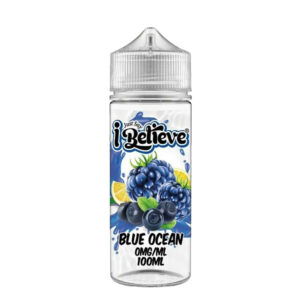 Just Say I Believe Blue Ocean 100ml Eliquid Shortfill Flaske