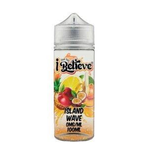 Just Say I Believe Island Wave 100ml Eliquid Shortfill Flaske