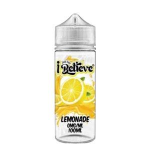 Just Say I Believe Lemonade 100ml Eliquid Shortfill Flaske