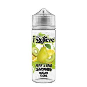 Just Say I Believe Pear Kiwi Lemonade 100ml Eliquid Shortfill Flaske
