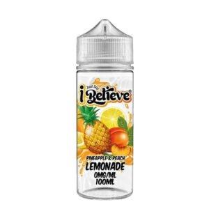 Just Say I Believe Pineapple Peach Lemonade 100ml Eliquid Shortfill Flaske