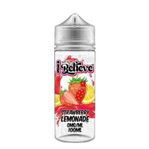 Just Say I Believe Strawberry Lemonade 100ml Eliquid Shortfill Flaske
