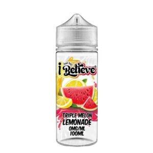 Just Say I Believe Triple Melon Lemonade 100ml Eliquid Shortfill Flaske