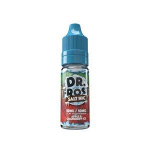 dr frost äppel tranbärsis 10 ml nic salt eliquid flaska
