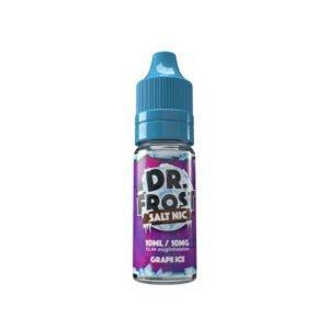 dr frost druvais 10 ml nic salt eliquid flaska