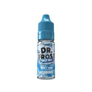 dr frost isberg 10 ml nic salt eliquid flaska