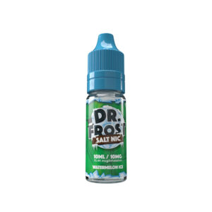 dr frost vattenmelonis 10 ml nic salt eliquid flaska