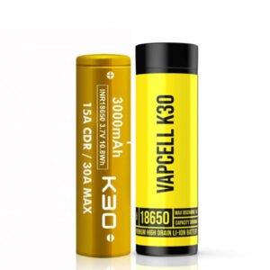 vapcell k30 inr 18650 3000mAh vape batteri