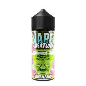 vape creature Gražus Greenberg 100 ml eliquid shortfill butelis