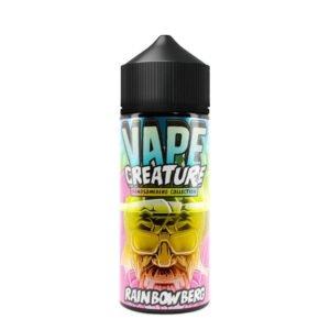 vape creature Gražus vaivorykštinis 100 ml eliquid shortfill butelis
