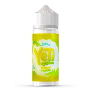 yeti citrusové zmrazení 100 ml eliquidu shortfill láhev