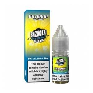 bazooka blue raspberry sour straws nic salt eliquid 10ml bottle with box