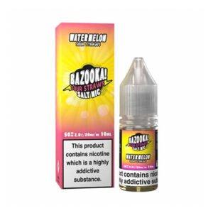 bazooka watermelon sour straws nic salt eliquid 10ml bottle with box