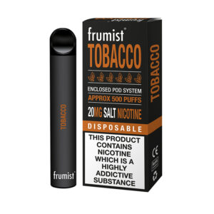 bar pod vape usa e getta tabacco frumist con scatola